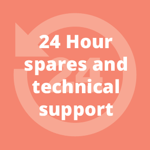 24 Hour spares and technical support